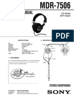 Sony Mdr 7506 Service Manual Ver 1.1 2002 07