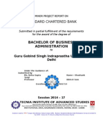 Project Report STANDARD CHARTERED BANK