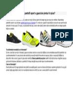 De Ce Au Pantofii Sport o Gaura