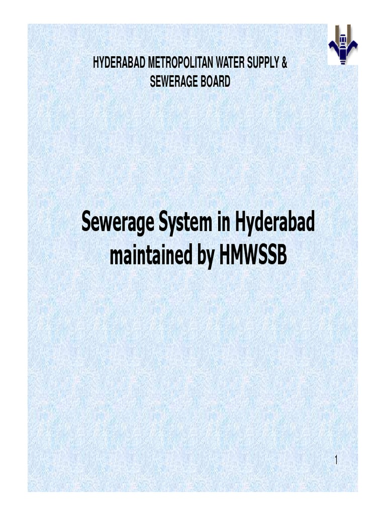 HMWSSB_presentation pdf | Sanitary Sewer | Combined Sewer