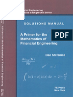 Solutions Manual - A Primer for the Mathematics of Financial Engineering