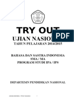 Soal Try Out Sma 2015