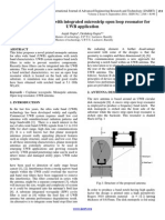 Notch band antenna with integrated microstrip open loop resonator for UWB application