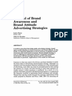 A Model of Brand Awareness Brand Attitude Advertising Strategies