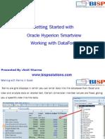 Oracle  HFM Smartview DataForm