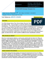 The FDAs DHF, DMR and DHR Design Dossier for Documentation - By Compliance Global Inc.