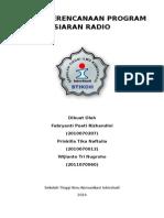 Tugas Perencanaan Program Siaran Radio