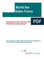 Build a Sales Force of Experts