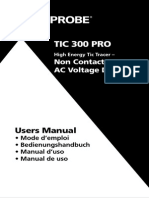 TIC 300 PRO Non Contact Voltage Detector Manual