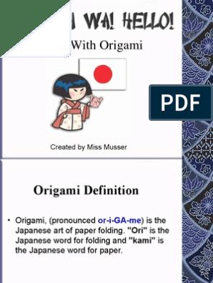 Origami | 396x298