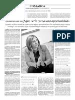 151123 La Verdad CG- Irene García. 'Gibraltar Hay Que Verlo Como Una Oportunidad' Pp. 8 y 9