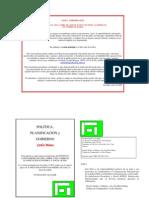 Politica Planificación y Gobierno. Parte 1 a 13