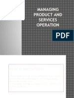 CHAPTER 10-Managing Product and Services Operation