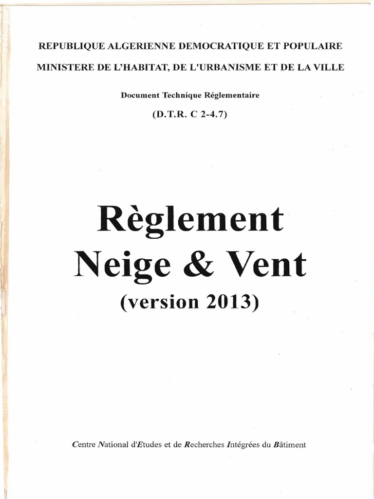 Rnv 2013 0 1 4 for Regle de l urbanisme