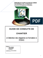 Guide de Conduite de Chantier