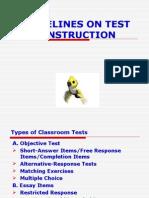 Criteria on Test Construction