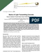 Basics of Light Transmitting Concrete