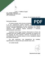 Carta Presentación Marina