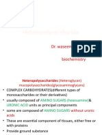 Heteropolysaccharides Lecture for 1st yr MBBS by Dr Waseem Kausar