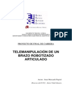 Telemanipulacion de Un Brazo Robotizado