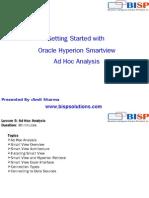 HFM Smartview AdHoc Analysis