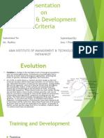 Training & Development Criteria.ppt