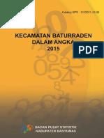 Kecamatan Baturraden Dalam Angka 2015