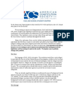 ACS at Yale Letter to Democratic Members of Congress