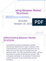 Differentiating Between Market Structures