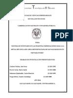 """Sistema de Inventario en Las Pequeñas Empresas Dedicadas a La Metal Mecánica Del Àrea Metropolitana de San Salvador Según Niif Para Pymes"""""""