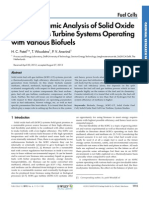 Thermodynamic Analysis of Solid Oxide Fuel Cell-Gas Turbine Systems Operating With Various Biofuels (1)