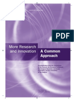 More Research and Innovation - A Common Approach
