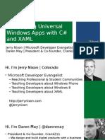 01 - Building Universal Windows Apps - Part 1