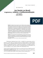 Instucionalização das Cências sociais no Brasil