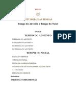 LITURGIA DAS HORAS I - Tempo do Advento e Tempo do Natal.docx