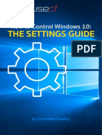 How to Control Windows 10 - the Settings Guide