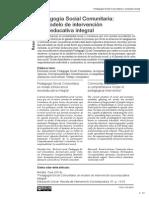 Pedagogia Social Comunitaria