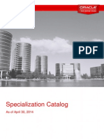 Oracle Specialization Catalog