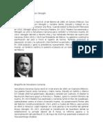Biografía Corta de Álvaro Obregón
