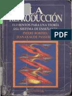 Subirats, Marina, Introducción en Pierre Bordieu, La Reproduccion