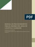 Manual de Procedimientos Para El Manejo Del Area de Logistica y Almacen