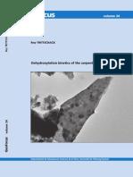 Cinética de deshidroxilación de minerales del grupo de la serpentina