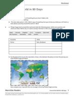 Around the World in 80Days Worksheet