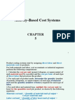Chapter 5 activity based cost systems