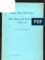 Some Fifty Odd Years of The Mask and Wig Club (1889-1941)