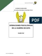 Operaciones Psicológicas en La Guerra de Zapa