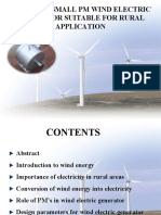 Design of Small Pm Wind Electric Generator Suitable for Rural Application