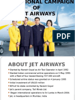 Promotional Campaign of JET AIRWAYS