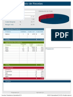 Planilla de Excel Calculadora de Costo de Recetas