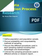 Sampling process and measurement scale